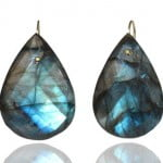 labradorite earrings - van holthe