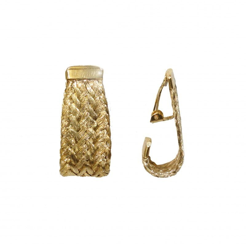grecian gold clip-on earrings