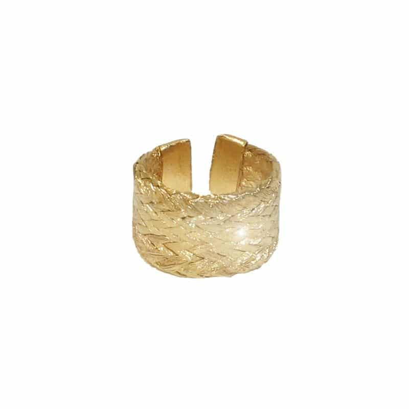 grecian gold adjustable ring
