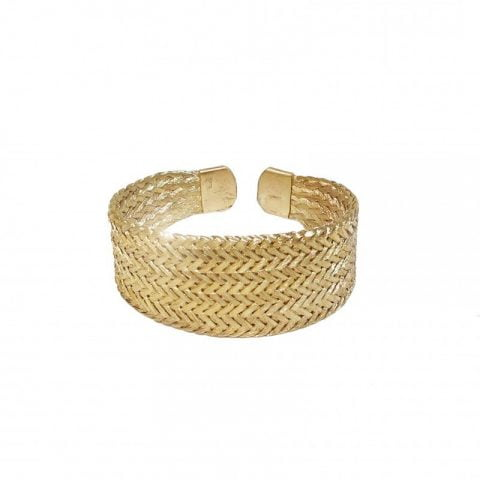 gold grecian cuff bracelet