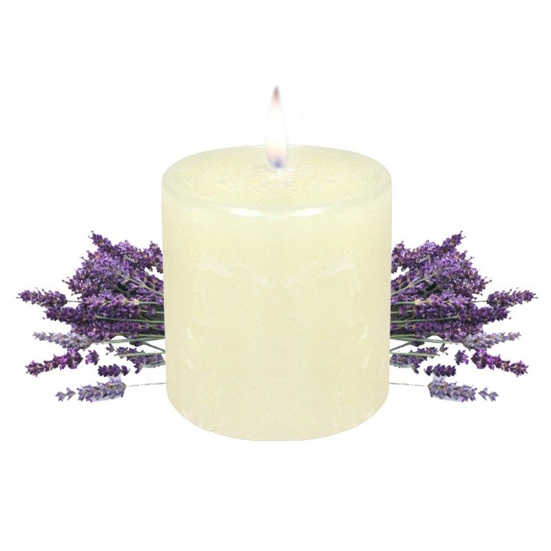 lavendula pillar candle