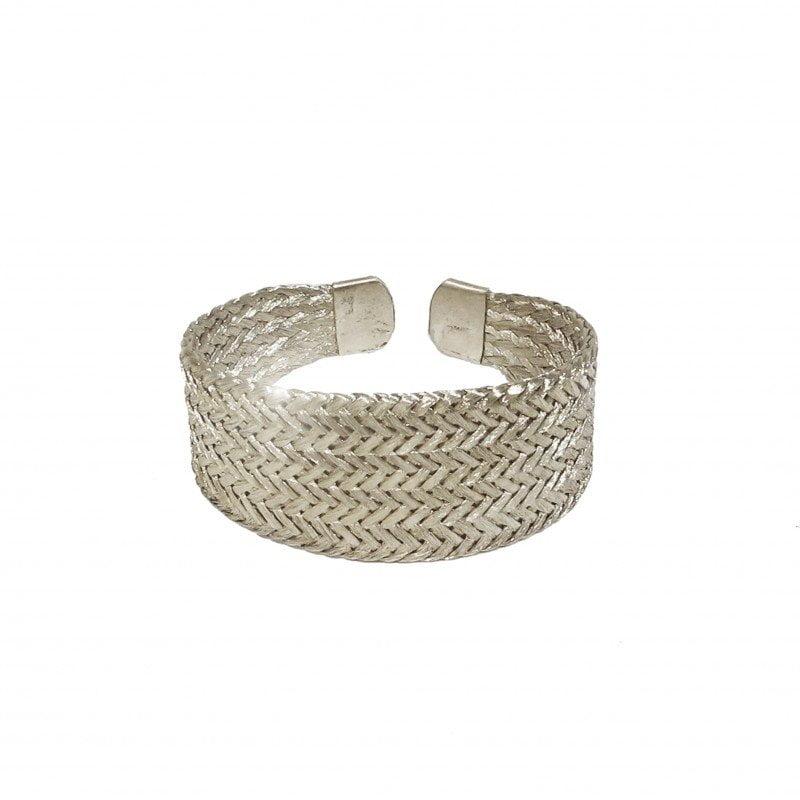 grecian silver cuff bracelet