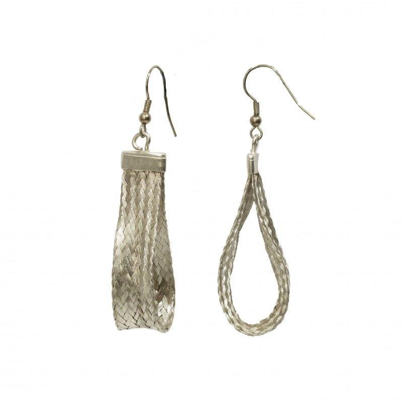 grecian silver earrings for pierced ears