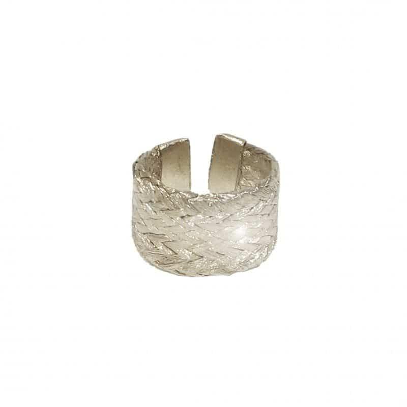 grecian silver adjustable ring