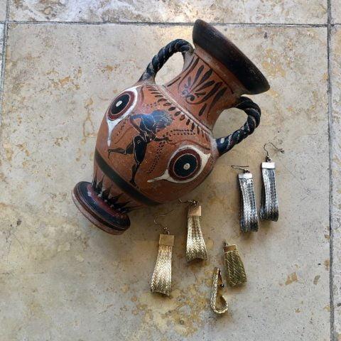grecian goddess earrings ancienne ambiance