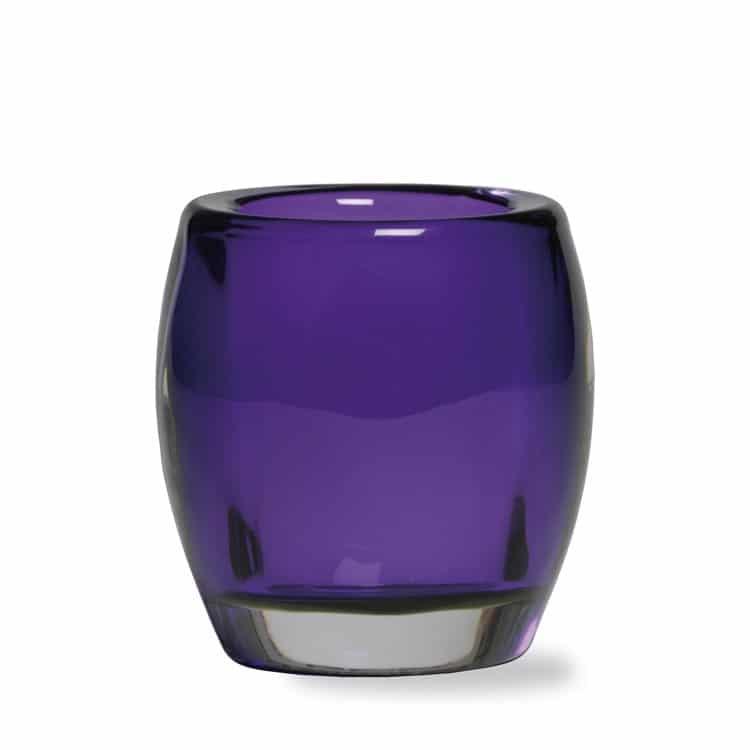 purple tealight holder