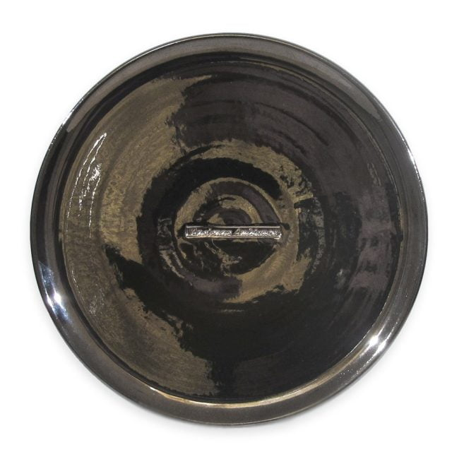 large ceramic candle plate