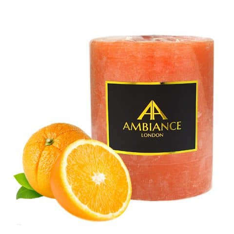 Orange Pillar Candle