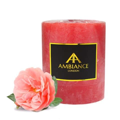 Rose Scented Pillar Candle