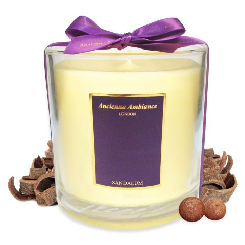 Deluxe Sandalum Candle with Ribbon