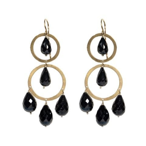 Spinel Double Chandelier Earrings