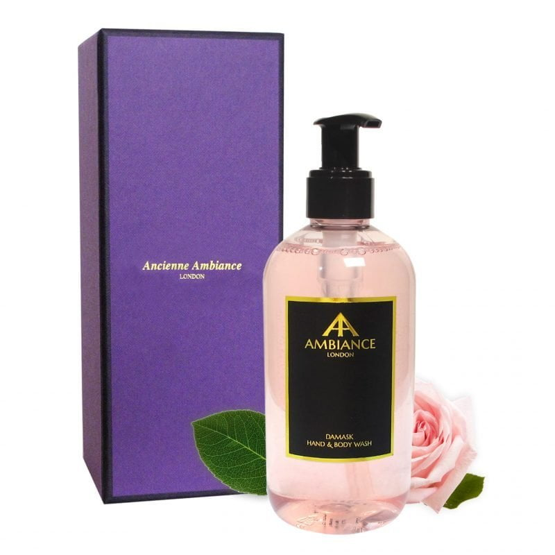 Damask Rose Hand & Body Wash with Gift Box