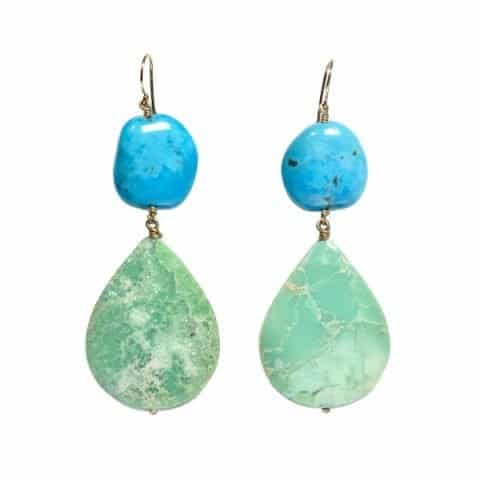 Turquoise Chrysoprase Earrings - van Holthe