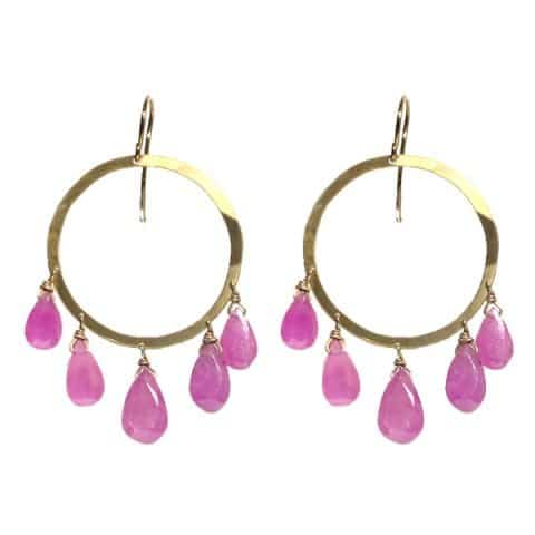 Pink Sapphire Earrings by Claire van Holthe