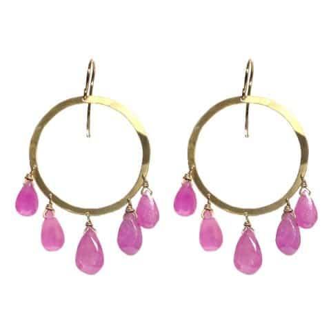 Pink Sapphire Earrings - van Holthe
