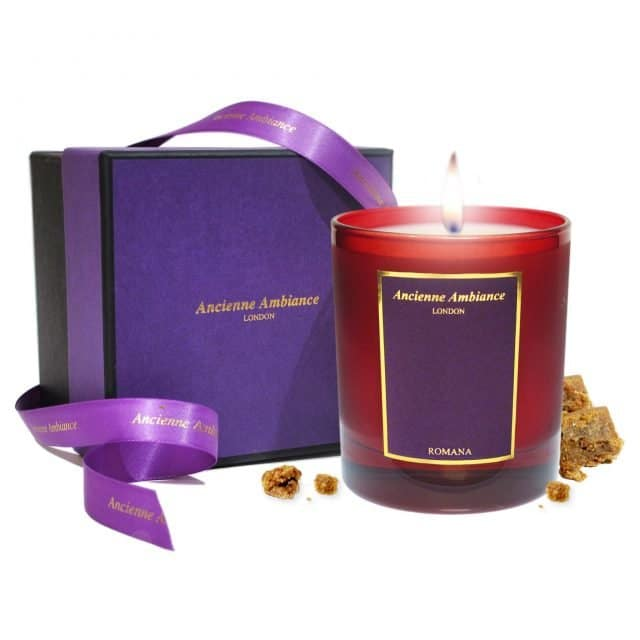 Romana Amber Candle Ltd Edition Giftboxed