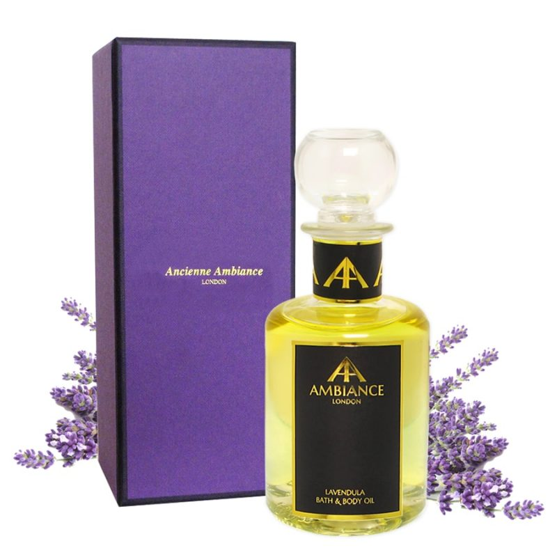 Lavendula Lavender Bath & Body Oil, Glass 200ml with Gift Box