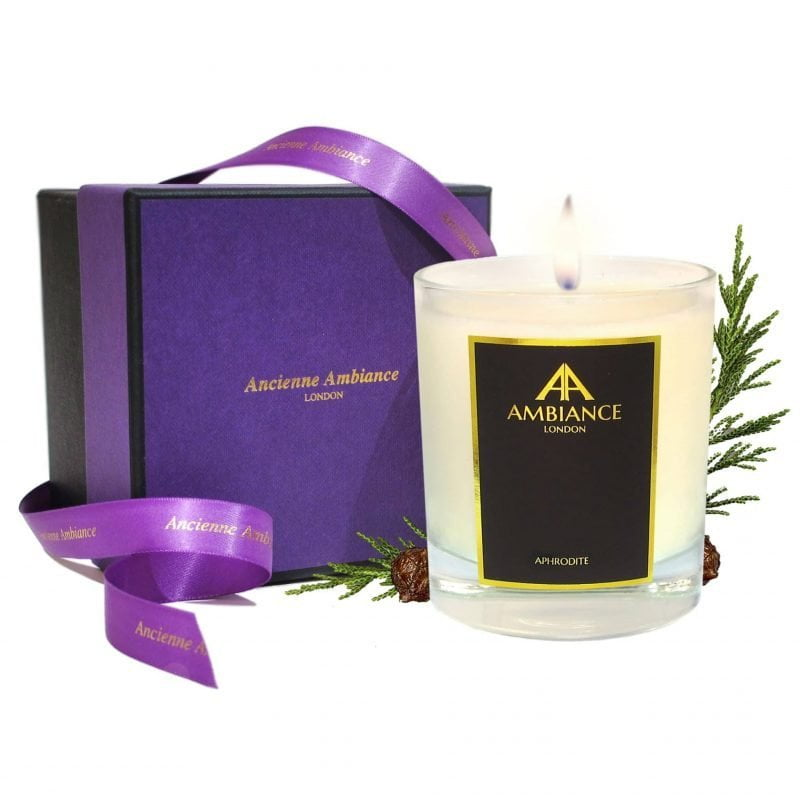 Aphrodite Cypress Scented Candle Giftboxed