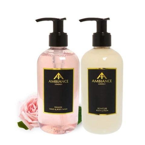 Damask Rose Body Wash & Lotion Gift Set