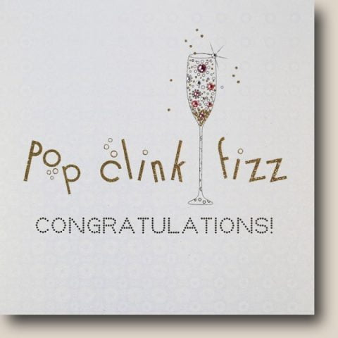 Pop Clink Fizz Congrats Card