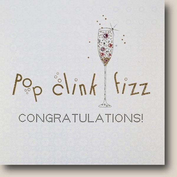 Pop Clink Fizz Congrats Card