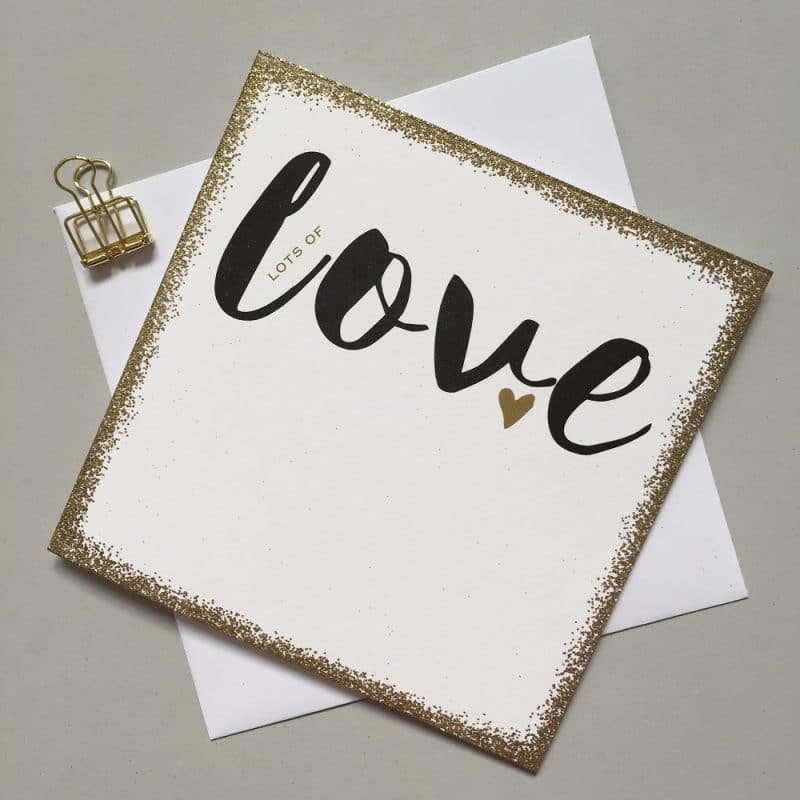 Lots Of Love Glitter Card