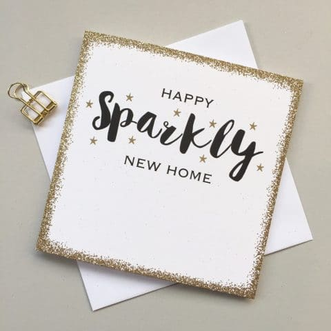 Sparkly New Home Card