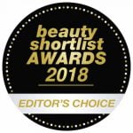 Beauty Shortlist Editor's Choice Award 2018