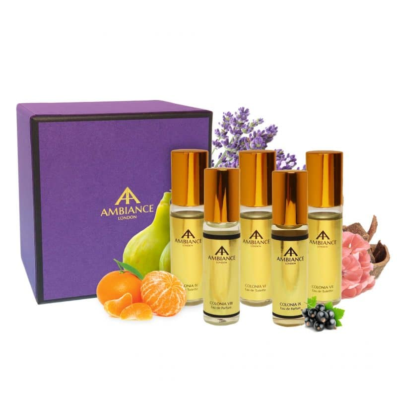 Gold Mini Colonia Gift Set with Box