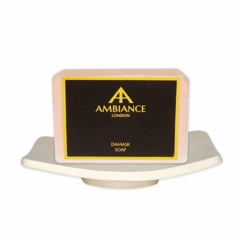 Ambiance Cream Ceramic Soap Dish