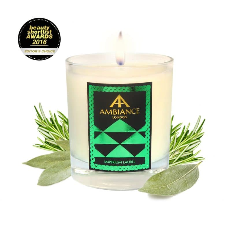 ancienne ambiance Imperium Laurel luxury scented candle - beauty short list awards