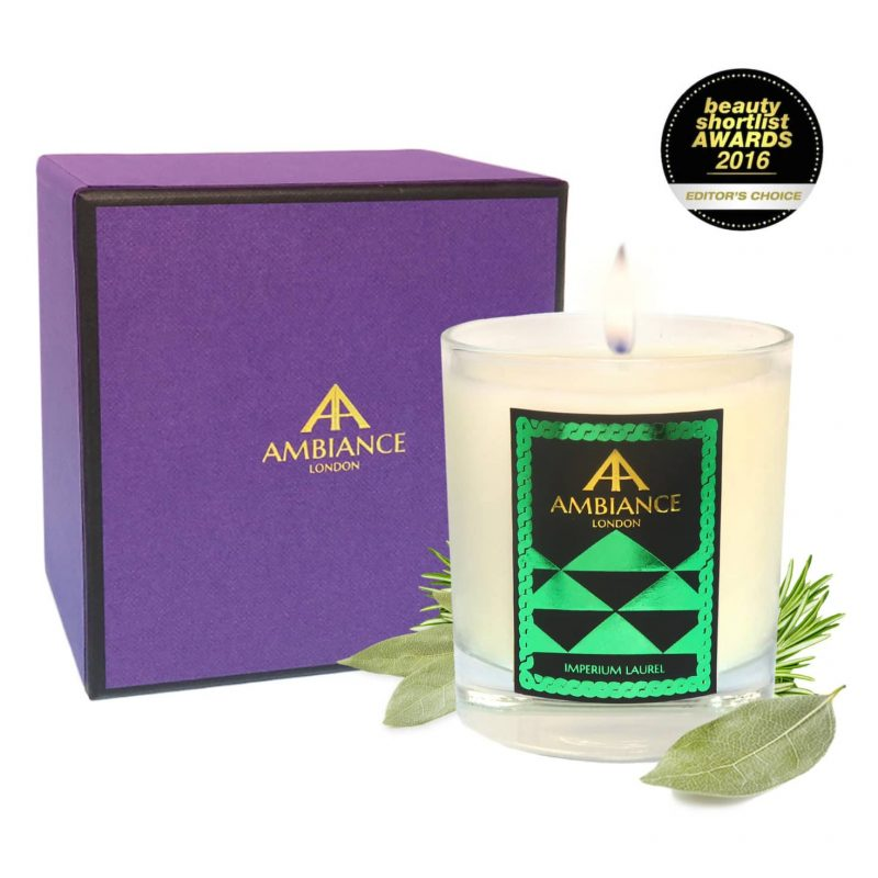 ancienne ambiance Imperium Laurel luxury scented candle giftboxed - beauty short list awards