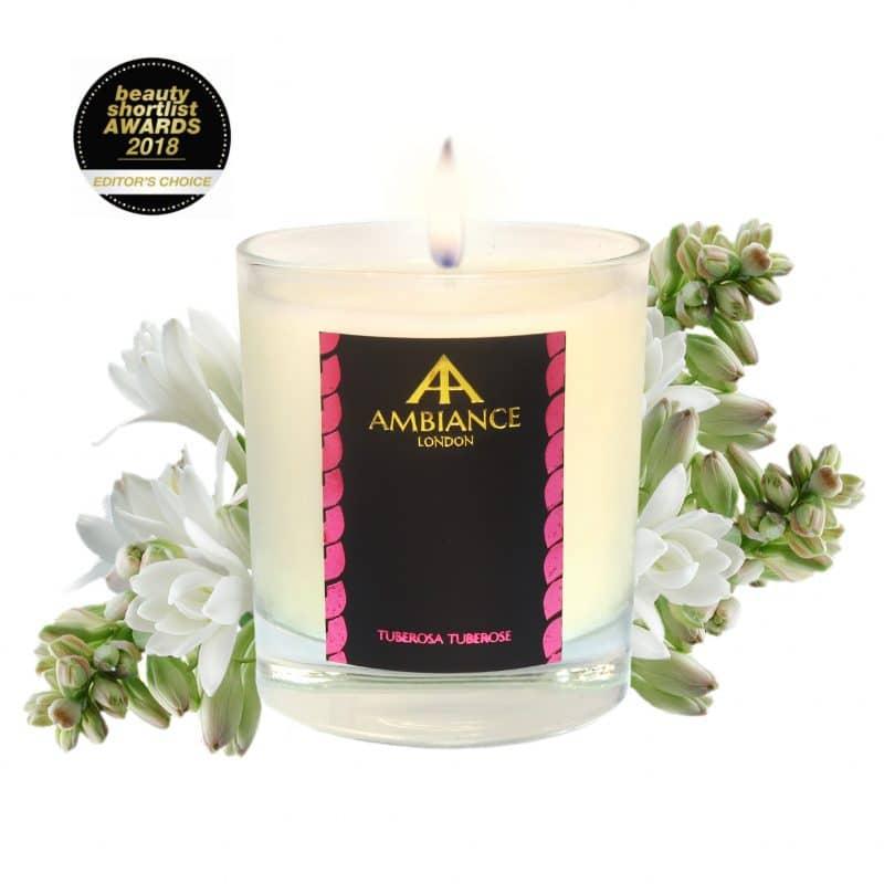 ancienne ambiance tuberosa tuberose luxury scented candle - beauty short list awards