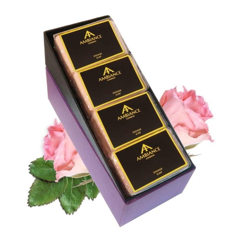 Damask Rose Luxury Soap Set