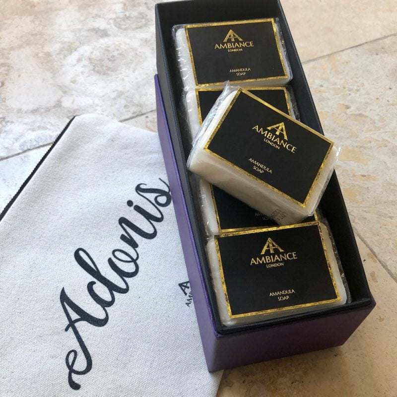 Adonis Canvas Pouch and Soap Set at Ancienne Ambiance