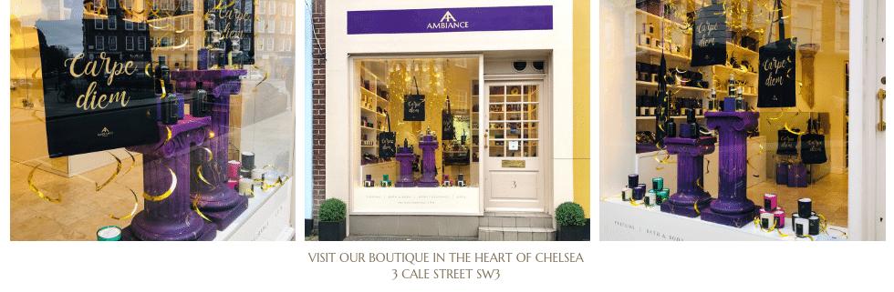 ancienne ambiance chelsea - luxury perfumery - London Window Display