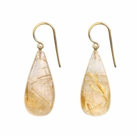 Claire van Holthe: Rutile Quartz Grecian Goddess Earrings