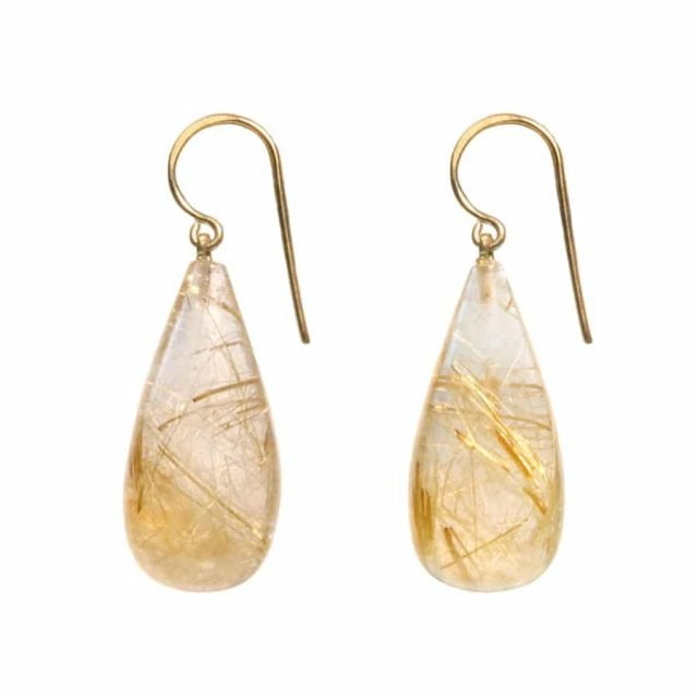 Claire van Holthe: Rutile Quartz Grecian Goddess Earrings