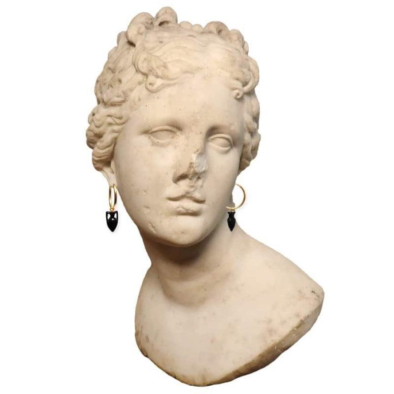 Maximos Onyx Amphora Earrings