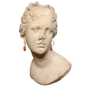 Maximos Coral Amphora Earrings