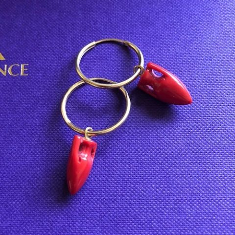 maximos zachariadis amphora coral earrings at ancienne ambiance