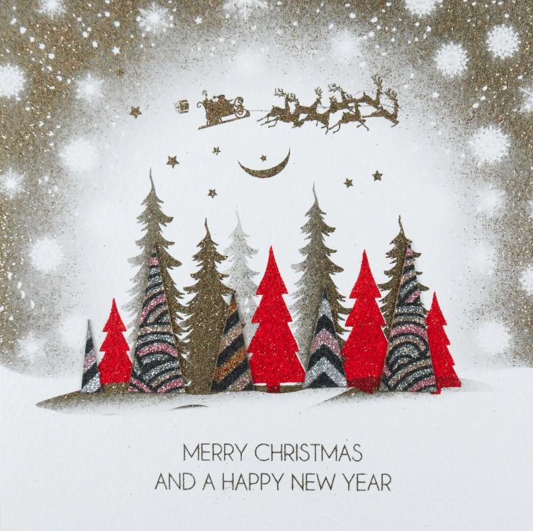 Merry Christmas Trees Card - Five Dollar Shake
