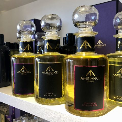 luxury aromatherpy bath oils - ancienne ambiance body oils - bath oils - detox bath oils shelfie