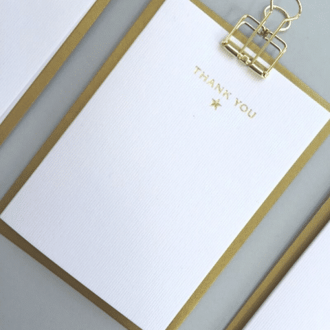 ancienne ambiance - stationery - Thank You notecards set - always sparkle greeting cards