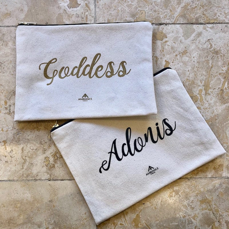 alphabet bags canvas pouches and makeup bags at ancienne ambiance