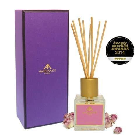 Giftboxed Award-Winning Damask Rose Reed Diffuser Pink Edition