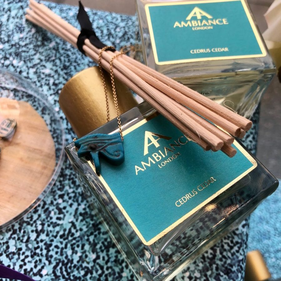 eye of horus necklace and cedar reed diffuser | Ancienne Ambiance