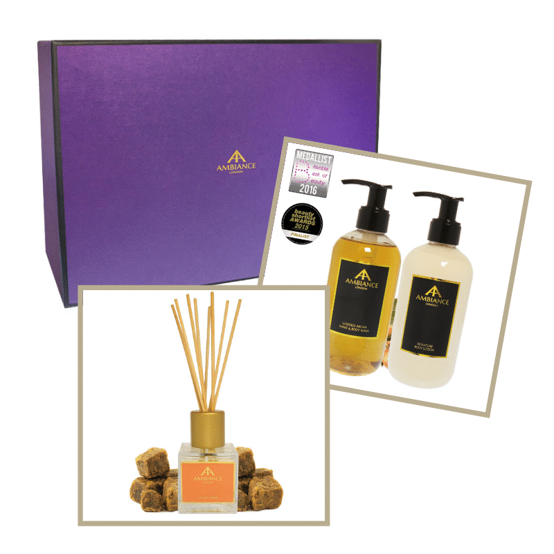 ancienne ambiance ambra diffuser argan hand wash and hand lotion home gift set