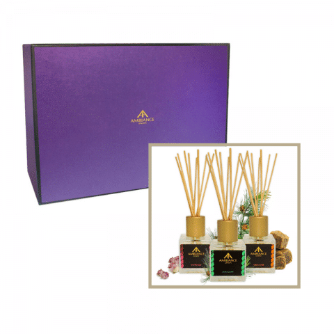 reed diffuser gift set - home fragrance gift set - ancienne ambiance diffusers