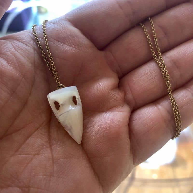 ancienne ambiance - maximos jewellery - mother of pearl amphora pendant necklace
